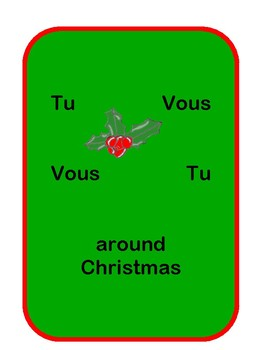 French Tu Vous Formal Informal around Christmas time