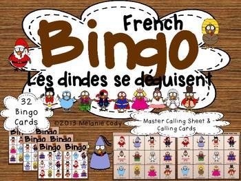 French Turkey Thanksgiving Bingo / Bingo des dindes pour l'action de grace