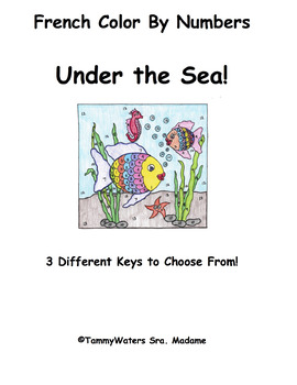 French Under the Sea Color By Numbers