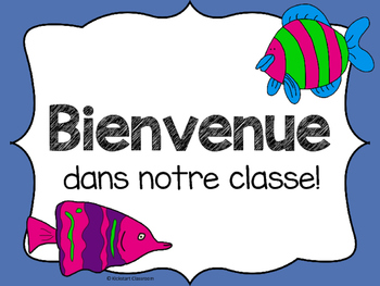 French Under the Sea Ocean Welcome Signs