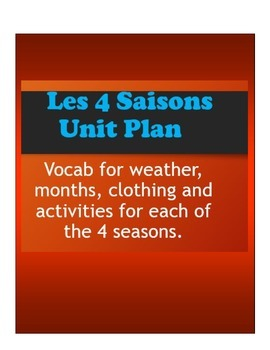 French 1 - Weather and Seasons unit with powerpoints, hand