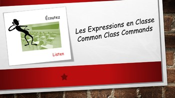French 1 Unit- Class Contract and Common Class Commands