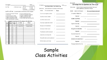 French 1 Unit- -ER Verbs & Conjugation, Forming Negative, and Asking Questions