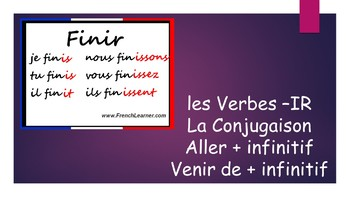 French 1 Unit- -IR Verbs, Conjugation, Aller + inf, and Venir de + inf