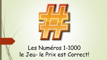 French 1 Unit- Numbers 1-1000