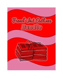 French Unit Plan Outlines Bundle