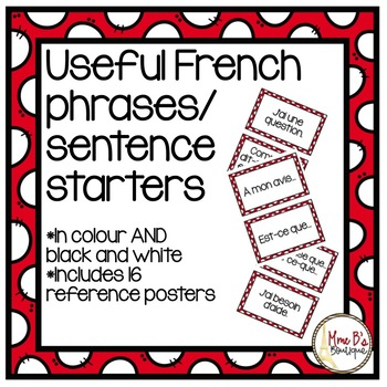 French Useful Phrases (phrases/expressions utiles)