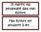 French VOICES writing strategies - J'ÉCRIS en français