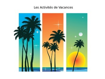 French Vacation Activities Vocabulary PowerPoint