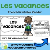 French Vacation Reader {Les vacances} & Cut & Paste ~ Simplified