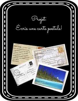 Project: Vacation/Vacances Post card (carte postale) - Fre