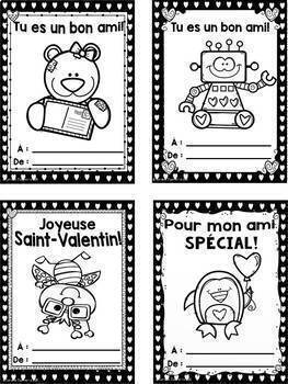 French Valentine Cards/ Cartes pour la saint-Valentin