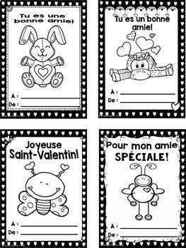 French Valentine Cards/ Cartes pour la saint-Valentin