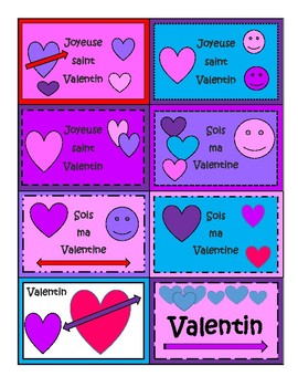Freebie French Valentine Cards with Printable Envelope