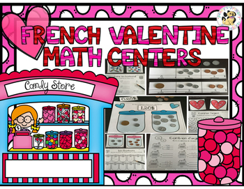 French Valentine Math Centers
