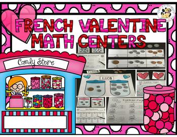 French Valentine Math Centers