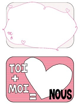 French Valentine Packet: Cards, Love lines, Terms of Endearment. La St. Valentin
