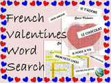 French Valentine Word Search