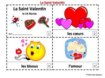 French Valentine's Day 2 Emergent Reader Booklets