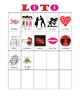 French Valentine's Day Bingo / Jour de Saint Valentin