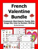 French Valentine's Day Bundle - 7 Items, 23 Pages - Le Jour de Saint Valentin