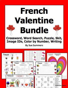 French Valentine's Day Bundle - 7 Items, 23 Pages - Le Jour de Saint Valentin