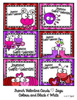 French Valentine's Day Cards ♥ Tags ♥ Set 2