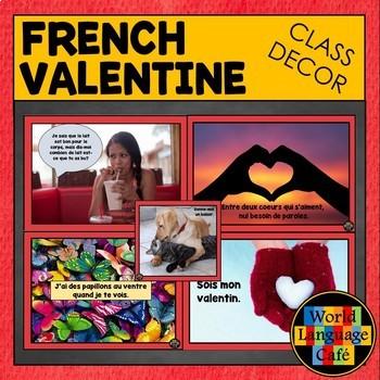 French Valentine's Day Classroom Decorations, Jour de St. Valentin