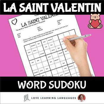 French Valentine's Day Sudoku Games - La Saint Valentin
