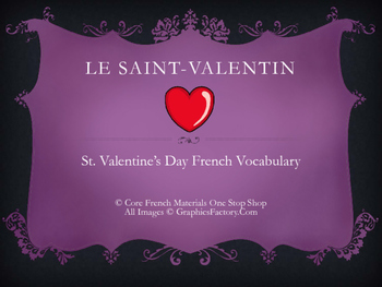 French Valentine's Day Vocabulary Flashcards