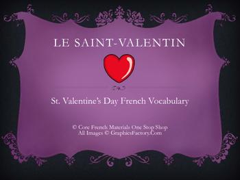 French Valentine's Day Vocabulary Flashcards