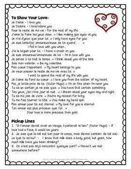 French Valentine's Day Vocabulary, Fortune Teller, Cootie Catcher Activity