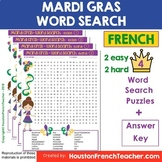 Mardi Gras French Word Search Activity - French Mardi Gras