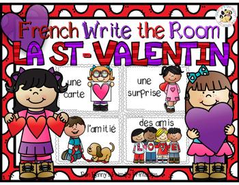 French Valentine's Day Write the Room-La St-Valentin