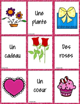 French Valentine's Day - matching game (VERSION B) - un jeu des paires