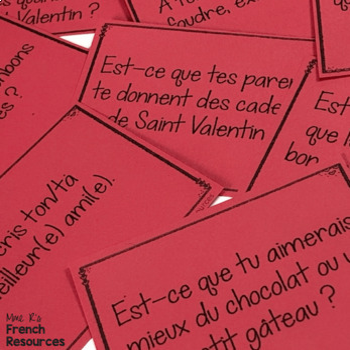 French speaking activity VALENTINE'S DAY LA SAINT VALENTIN