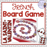 French Valentine's Day vocabulary board game SAINT VALENTIN