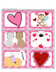 French Valentine's Matching Game - Jeu d'association de la Saint-Valentin