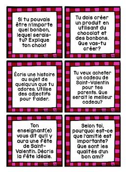 French Valentine's Day Writing - La Saint-Valentin