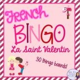 French bingo Valentine's Day LA SAINT VALENTIN