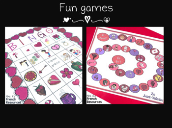 French Valentine's bundle speaking and writing - St. Valentin