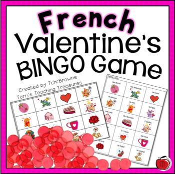 French Valentine's Day Bingo