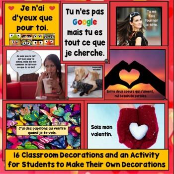 French Valentine's Day, jour de la Saint-Valentin Lesson Plan Vocab, Games, Song