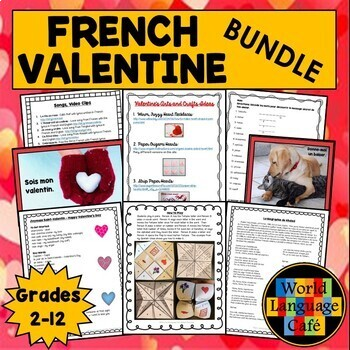 French Valentine's Day, Jour de St. Valentin Activities, Lessons, Vocab, Games