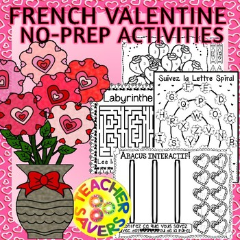 French Valentines Day No-Prep Activities