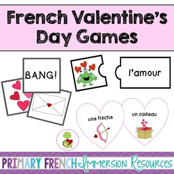 French Valentine's Day Pack (cartoon images) – Vocabulary Games