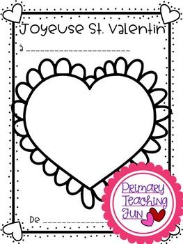 French Valentines Freebie,    Activite de St. Valentin gratuite!