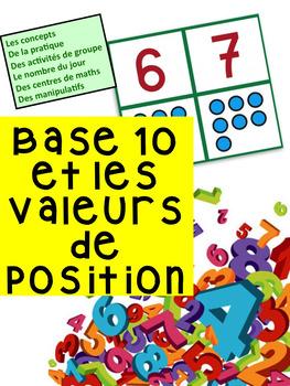 """French: """"Valeurs de position et base 10"""", Grade 2 Math"""", Immersion"""