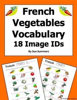 French Vegetables 18 Image IDs - French Food
