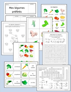 French Vegetables Vocabulary - Les Legumes